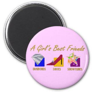 Die besten Freund-Magnet des Mädchens Runder Magnet 5,1 Cm