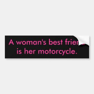 Die besten friendis einer Frau ihr Motorrad Autoaufkleber