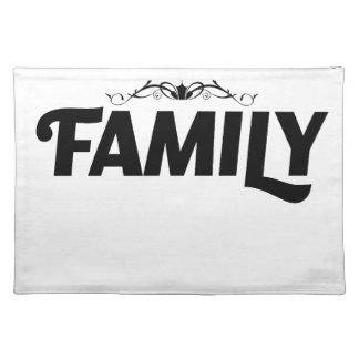 die besten Sachen im Leben ist Familie Stofftischset
