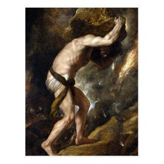Die Bestrafung von Sysiphus Postkarte