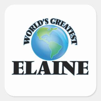 Die bestste Elaine der Welt Quadratsticker