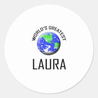 Die bestste Laura der Welt Runde Sticker
