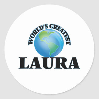 Die bestste Laura der Welt Runder Aufkleber
