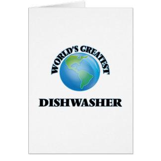 Die bestste Spülmaschine der Welt Grußkarten