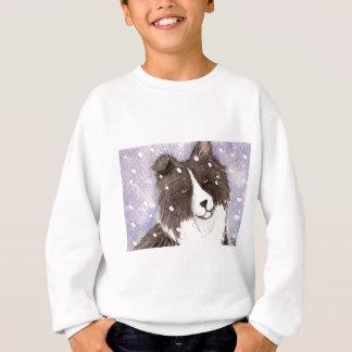 """Die Bi-schwarzer Shetlandinseln-Schäferhund """"Snowy Sweatshirt"""