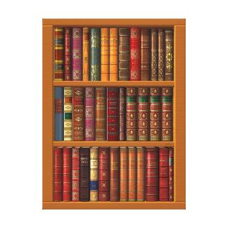 Die Bibliothek der klassischen Bücher Leinwanddruck
