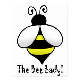 Die Bienen-Dame Postkarte
