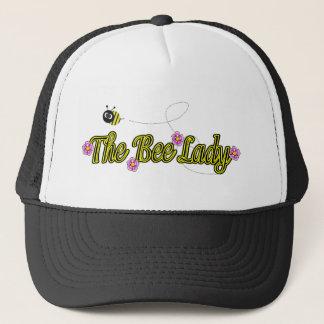 die Bienendame mit Blumen Truckerkappe