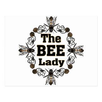 die Bienendame Postkarte