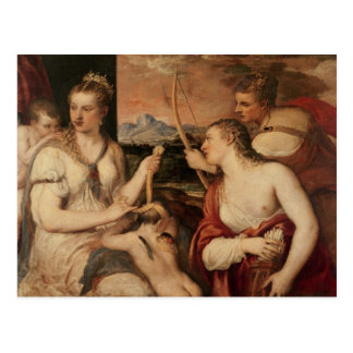 Die Bildung des Amors, c.1565 Postkarte