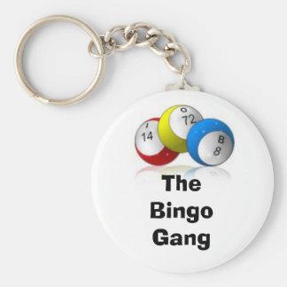 Die Bingo-Gruppe Standard Runder Schlüsselanhänger