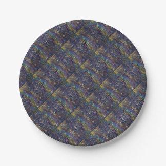 Die blaue Gras-Vielzahl Pappteller