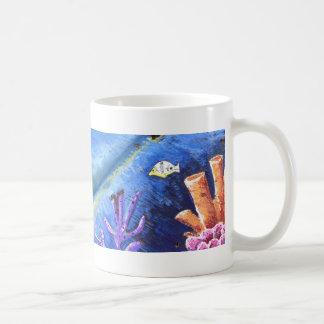 Die blaue Kokosnuss-Kaffee-Tasse - Ferien! Kaffeetasse