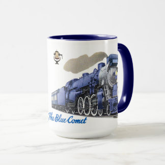 Die blaue Kometen-Dampf-Lokomotive Tasse