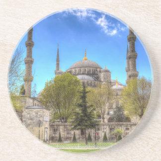 Die blaue Moschee Istanbul Sandstein Untersetzer
