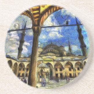 Die blaue Moscheen-Istanbul-Kunst Untersetzer