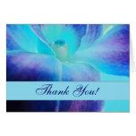 Die blaue Orchidee danken Ihnen Notecard Grußkarten