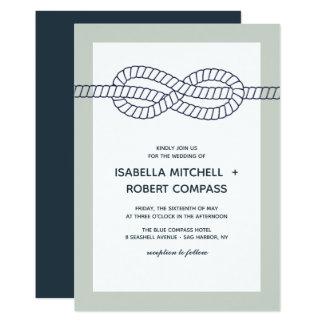 Die blaue Wedding Einladung des Knoten- 