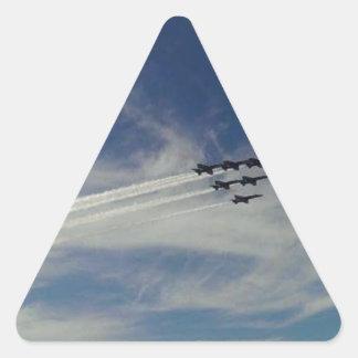 Die blauen Engel Dreieckiger Aufkleber