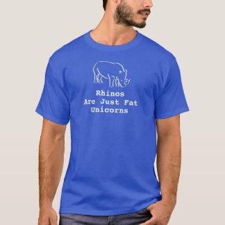 Die blauen Rhinos der Männer sind gerade fette T-Shirt