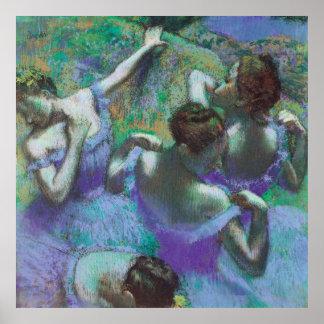 Die blauen Tänzer durch Edgar Degas Poster