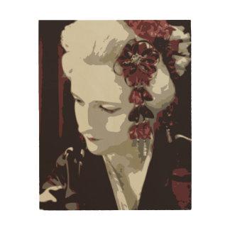 die blonde Geisha Holzdruck