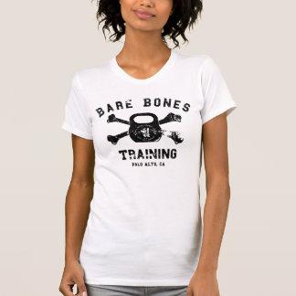 Die bloßen Knochen der Frauen, die Shirt ausbilden