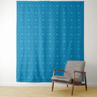Die Blues-Vintage Kaleidoskop-Wand-Tapisserie Wandteppich