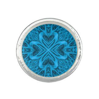 Die Blues-Vintagen Kaleidoskop-   Ring
