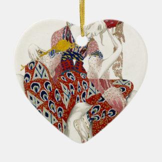 Die Blume der Unsterblichkeit - Tanz Keramik Herz-Ornament
