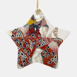 Die Blume der Unsterblichkeit - Tanz Keramik Stern-Ornament
