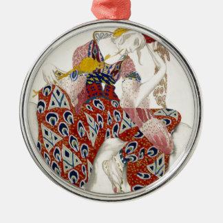 Die Blume der Unsterblichkeit - Tanz Rundes Silberfarbenes Ornament