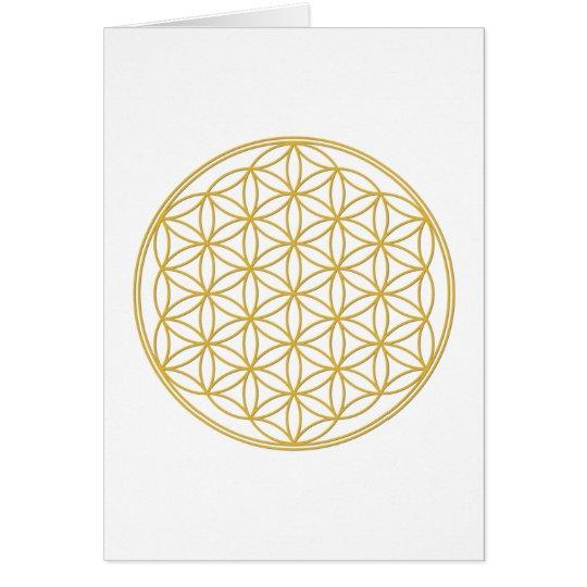 Die Blume des Lebens - Gold Karte