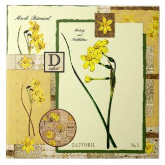 Die Blume des März Große Quadratische Fliese