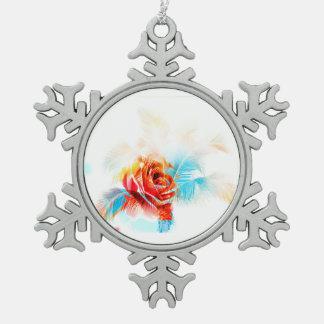 Die Blume des Schnees! Misch-Technologie Energie Schneeflocken Zinn-Ornament