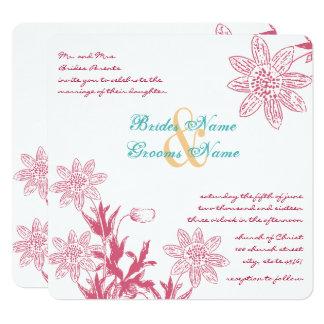 Die Blumen Geißblatt-Frühlings-Hochzeits-Farben Karte