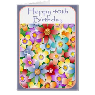 Die Blumen-Power-40. Geburtstags-Karte der Diva Karte
