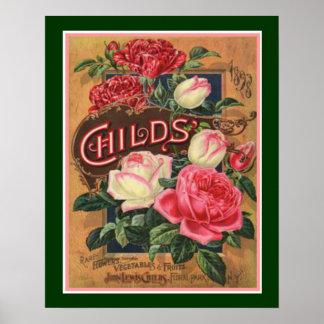 Die Blumen-Samen-Druck 1898 der Kinder 16x20 Poster