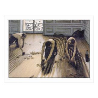 Die Boden-Schaber durch Gustave Caillebotte Postkarte