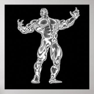 Die Bodybuildings-Plakat der Männer Poster