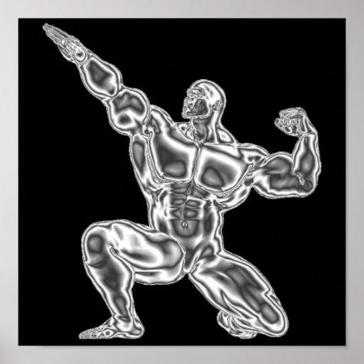Die Bodybuildings-Plakat der Männer