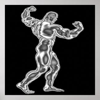 Die Bodybuildings-Pose-Plakat der Männer Poster