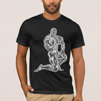 Die Bodybuildings-Pose-T - Shirt der Männer