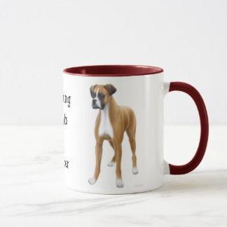 Die Boxer-Wecker-Tasse Tasse