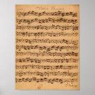 Die Brandenburger Konzerte, No.5 D-Dur, 1721 Poster