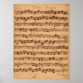 Die Brandenburger Konzerte, No.5 D-Dur, 1721 Posterdruck