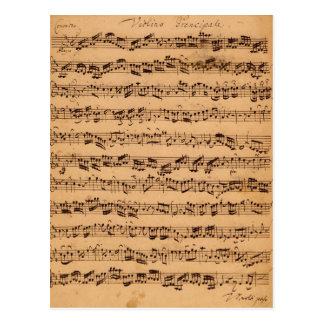 Die Brandenburger Konzerte, No.5 D-Dur, 1721 Postkarte