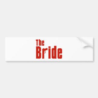 Die Braut (Mafia-Rot) Autoaufkleber