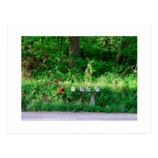 Die Briefkästen Postkarte