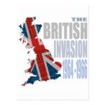 Die britische Invasion 1964-1966 Postkarte